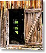 Weathered Barn Door Metal Print