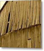 Weathered Barn I In Sepia Metal Print
