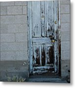 Weathered Door Virginia City Nevada Metal Print