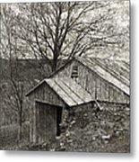 Weathered Hillside Barn Metal Print