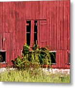 Weathered Red Barn Of New Jersey Metal Print