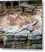 Weathered Stone Metal Print