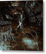 Web Glitter Metal Print