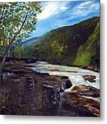 Webster Springs Stream Metal Print