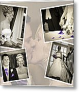 Wedding Album Page - Fine Art Metal Print