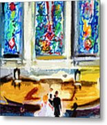 Wedding Day At Second Presbyterian Church Charleston Sc Metal Print