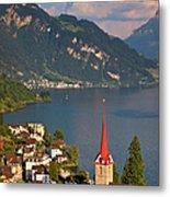 Weggis Switzerland Metal Print