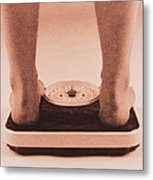 Weight Measurement Metal Print