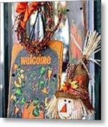 Welcome Fall Metal Print