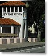 Welcome To New Port Richey Florida  Metal Print