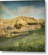 We'll Walk These Hills Together Metal Print