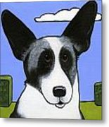 Welsh Cardigan Corgi Metal Print