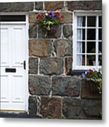 Welsh Cottage Detail Metal Print by Jane Rix