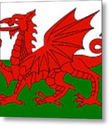 Welsh National Flag Metal Print