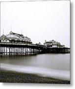Brighton West Pier Metal Print