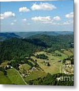West Virginia Aerial  Metal Print