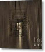 West Virginia Penitentiary Hallway Out Metal Print