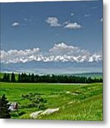 Westerly View Of The Bridger Mountains Metal Print