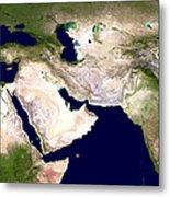 Western Asia, Satellite Image Metal Print