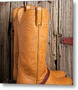 Western Boots And Spurs Metal Print