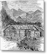 Western Fort, 19th Century Metal Print