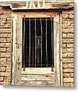 Western Jail House Door Metal Print
