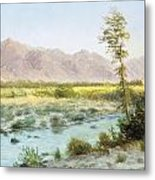 Western Landscape Metal Print by Albert Bierstadt