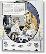 Westinghouse Ad, 1924 Metal Print by Granger