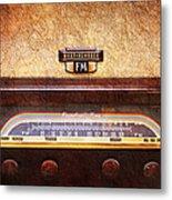 Westinghouse Fm Rainbow Tone Radio Metal Print