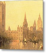 Westminster Houses Of Parliament Metal Print