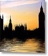 Westminster Silhouette Metal Print