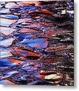 Wet Cobblestone Road Metal Print
