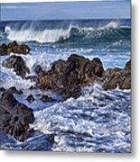 Wet Lava Rocks Metal Print