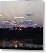 Wetland Sunset Metal Print