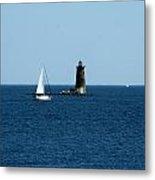Whaleback Lighthouse Kittery Maine Metal Print