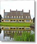 Whalehead House With Currituck Lighthouse Metal Print