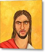 ''what Would Jesus Do'' Metal Print