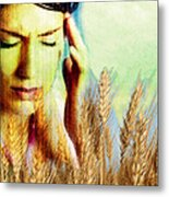 Wheat Allergy Metal Print by Hannah Gal
