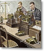 Wheatstone Telegraph System Metal Print by Sheila Terry