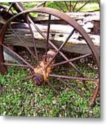 Wheel In Time Photograph Metal Print
