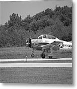 Wheels Up Black And White Metal Print