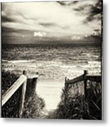 When I Was A Child - Sepia Metal Print