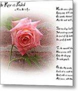 When The Rose Is Faded Metal Print