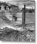 Where Does The Story End Monochrome Metal Print