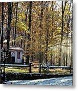 Where Fall Meets Winter Metal Print by Jennifer Compton