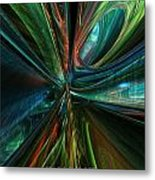 Where Tech Meets Digital Abstract Fx  Metal Print