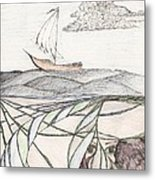Where The Deep Currents Run... - Sketch Metal Print by Robert Meszaros