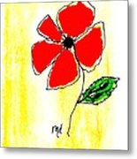 Whimsey Red Metal Print