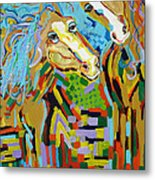 Whimsical Affection Metal Print by Lisa Kramer
