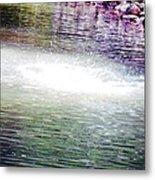 Whirlpool Of Water Suds Metal Print